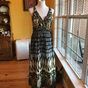 Really pretty blue and green maxi dress 2X